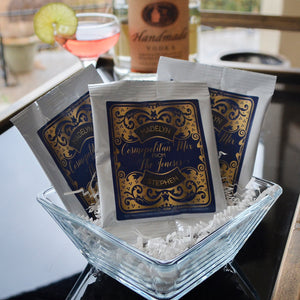 Custom Cosmopolitan Drink Mix Favors