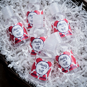 Personalized Mini Hand Sanitizer Favors