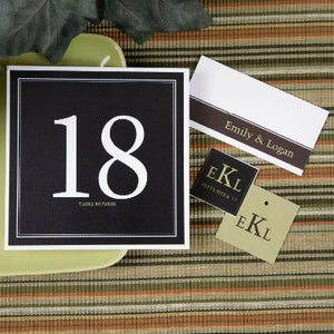 Connecticut Collection Table Number Cards