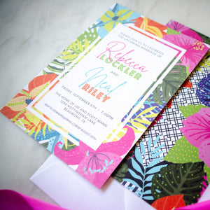 Full Color Tropical Wedding Invitations