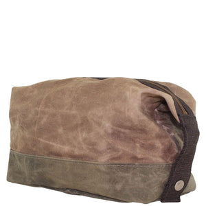 Waxed Khaki Dopp Kit
