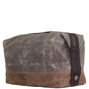 Waxed Olive Dopp Kit