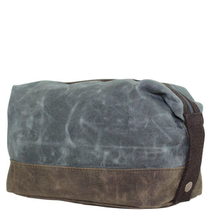 Waxed Slate Dopp Kit