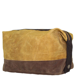 Waxed Yellow Dopp Kit