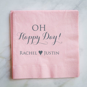 Oh Happy Day Wedding Napkins - set of 100