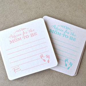 Advice for the Mom-to-Be Coasters - set of 10