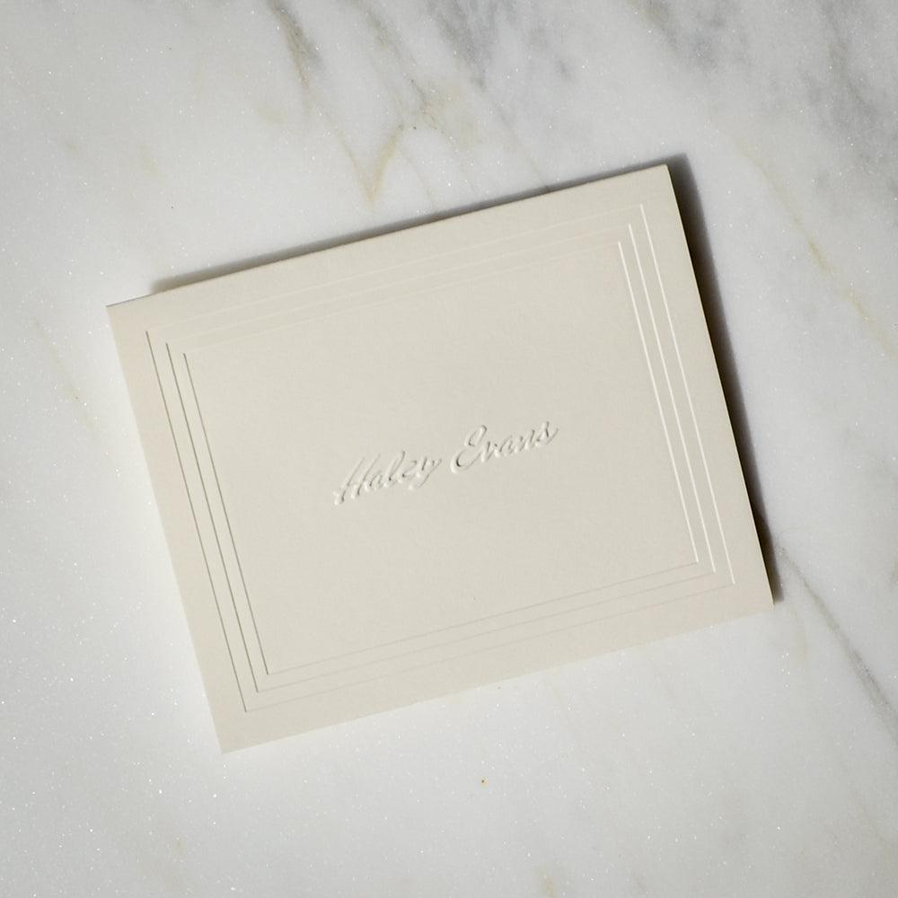 custom embossed stationery notes 100 piece set - Personalized Embossed Note Cards