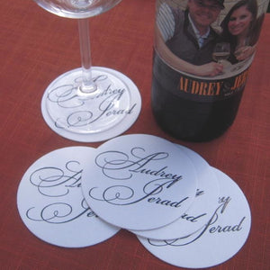Personalized Custom Wedding Coasters - 50