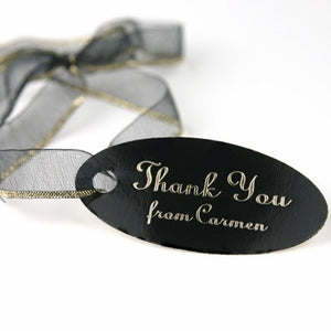Personalized Imprinted Oval Favor Tags
