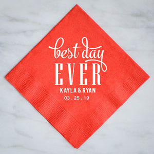 Personalized Best Day Ever Party Napkins - Set of 100