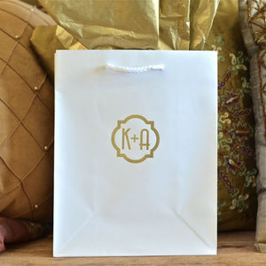 Hotel Welcome Bag with Quatrefoil Monogram