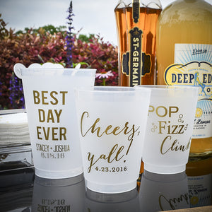 Custom Color Frost Flex Party Cups