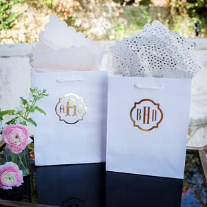Personalized Monogram Wedding Tote Bags