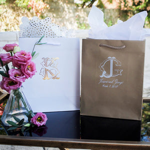 Custom Interlocking Monogram Gifts Bags