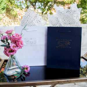 Custom Flourish Wedding Welcome Bags