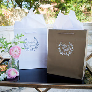Custom Branch Wreath Welcome Bags