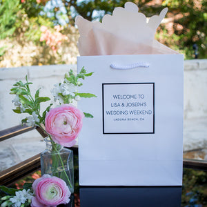 City & State Wedding Welcome Bags