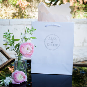 Personalized Wedding Wreath Gift Bags