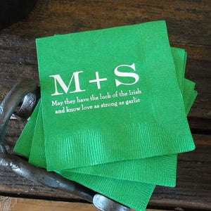 Personalized Initial Party Napkins - 100