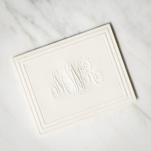 Embossed Classic Frame Monogram Notes - 100 Piece Set