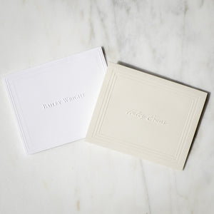 Custom Embossed Stationery Notes - 100 Piece Set