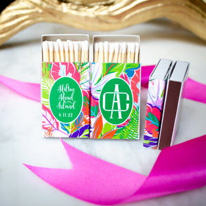 Custom Full Color Tropical Matches