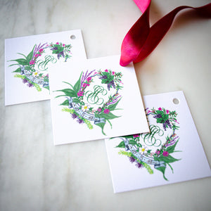 Full Color Wedding Favor Tag