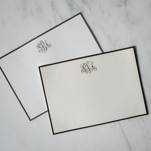 Personalized Bordered Stationery Notes
