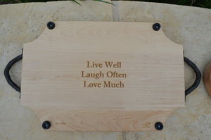 Personalized Scalloped Maple Cheese Board