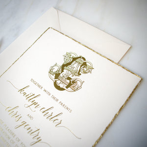 Deckled Edge Wedding Invitations