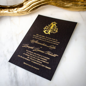 Black & Gold Foil Wedding Invitations