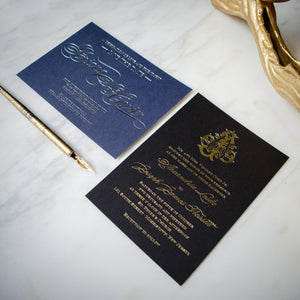 Metallic Foil Party Invitations