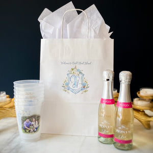 Full Color Wedding Crest Paper Bags