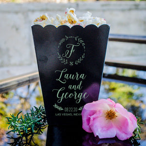 Wreath Monogram Popcorn Boxes