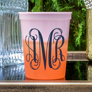Monogram Color Change Stadium Cups