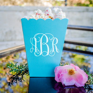Large Monogram Popcorn Boxes