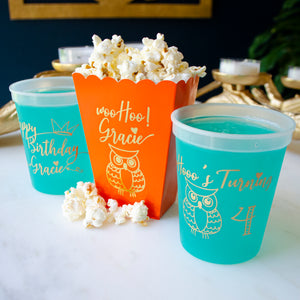 Kid's Birthday Popcorn Boxes