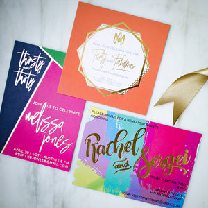 Digital Full Color & Foil Printed Invitations