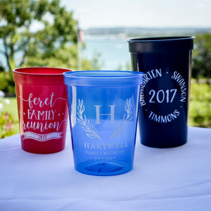 Personalized Family Reunion Stadium Cups