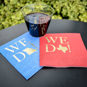 Moire State Pride Wedding Napkins