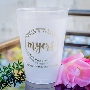 Personalized Bordered Shatterproof Cups