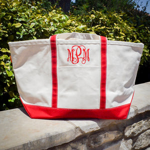 Monogrammed Canvas Carryall Bag