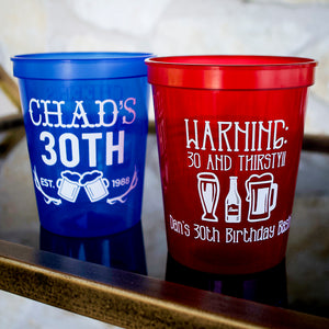 30 & Thirsty Stadium Cups