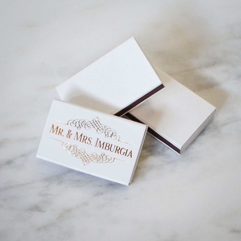 Personalized Mr. & Mrs. Wedding Matches - Gracious Bridal Design House