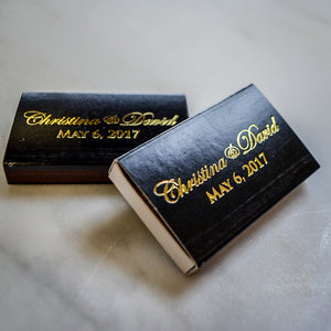 Custom Printed Wedding Day Matchboxes