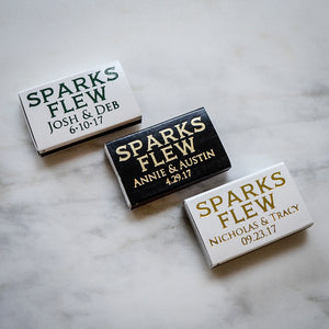 """Sparks Flew"" Custom Wedding Matches"