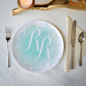 Watercolor Personalized Splash Melamine Plates