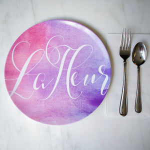 Watercolor Print Melamine Plates
