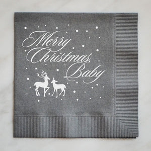 Merry Christmas Baby Cocktail Napkin
