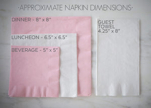 Custom Printed Wedding Cocktail Napkins